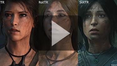 古墓丽影重启三部曲游戏人物模型对比